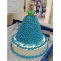 Barbi Doll Blue Cake